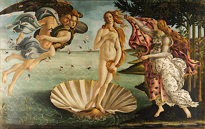Botticelli's The Birth of Venus (the Roman equivalent of Aphrodite). Orville and I saw this painting in Florence last year! – Aphrodisiac? Absolutely!