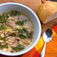 Sup: White Bean and Turkey Soup with Pozole and Kale